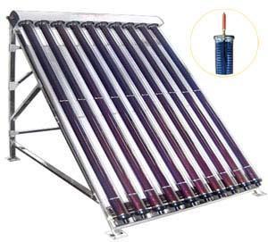 Слънчев вакуумен колектор с 10 тръби SHCMV за 80-100 литра бойлер