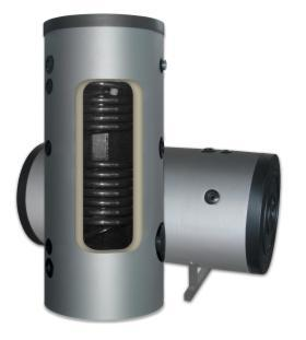 Water tanks with two coils - 1000 liters