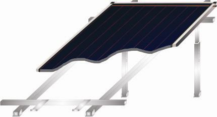 Roof support system for one panel collector 1,66 - FLAT ROOF