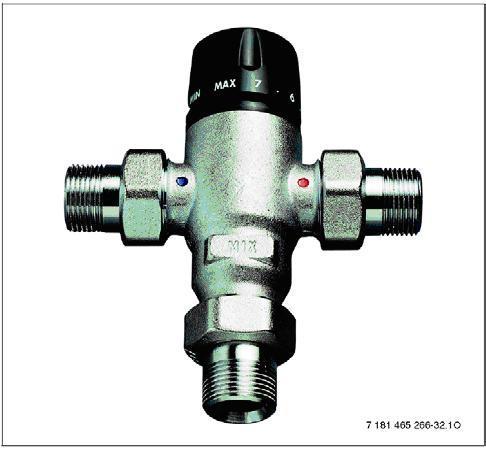 Термостатен смесител за битова гореща вода